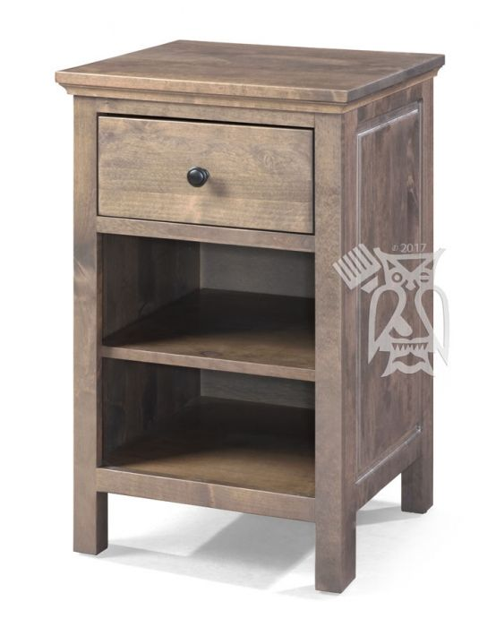 Solid Alder Wood Heritage 1 Drawer Nightstand In Driftwood Finish 12 Choices