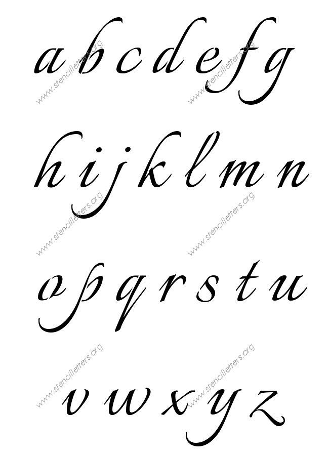 connected calligraphy 12 inch sizes capital and small case alphabet stencil letters a z calligraphy stencils item id