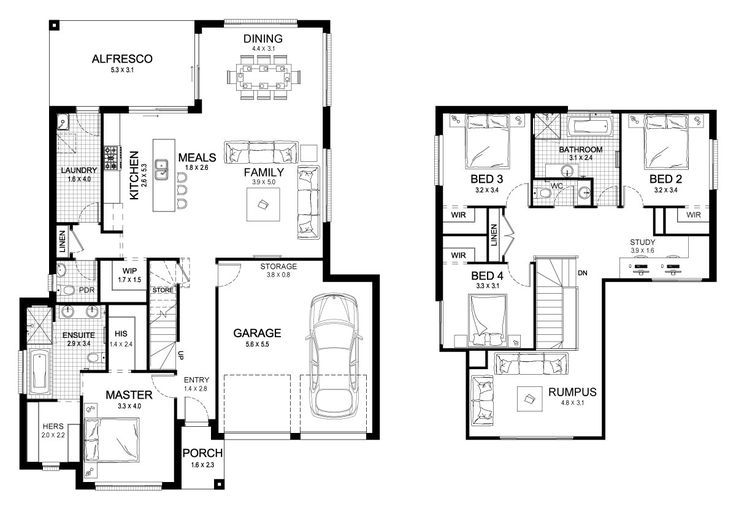 Sanctuary 30 - Double Level - Floorplan by Kurmond Homes - New Home Builders Sydney NSW