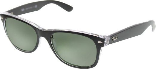 Ray-Ban New Wayfarer Sunglasses RB2132 6052-55 - Top Black On Trasparent Frame, RB2132-6052-55  List Price:$130.00 Price:$83.26 & FREE Shipping. Details You Save:$46.74 (36%)