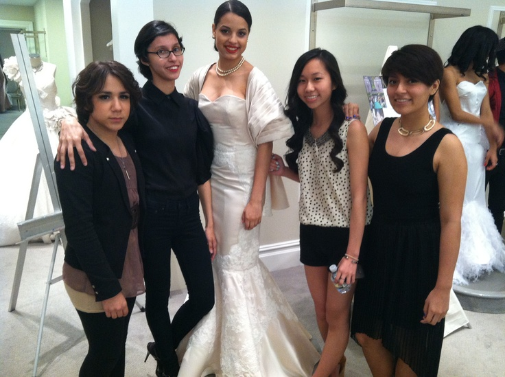 My model, Kleinfeld team, and I