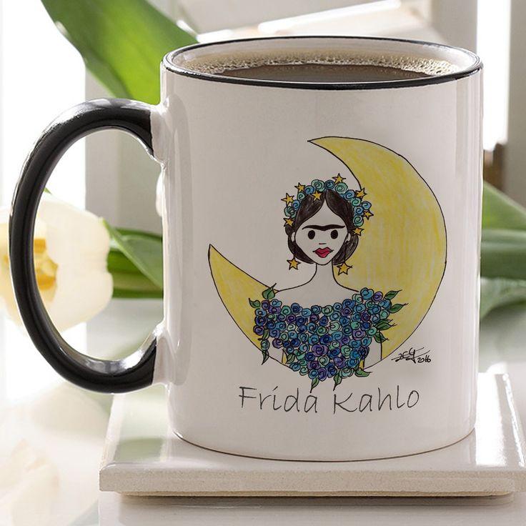 Frida Kahlo Tasarım Kupa Bardak