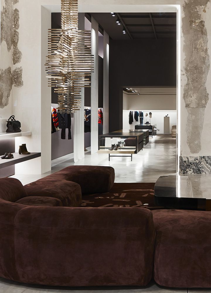 Sofa, Coffee Table, Suspension Light Designed By Vincenzo De Cotiis  Archtiects At The Antonia