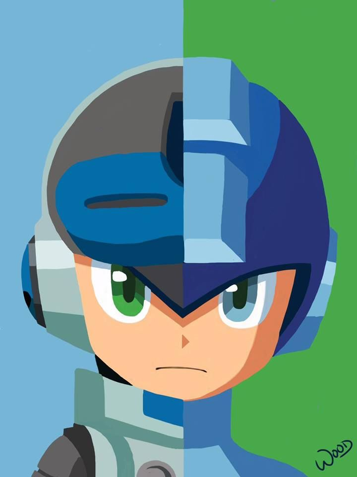 """The game I'm supporting on kickstarter, """"Mighty No. 9"""", the spiritual successor to Mega Man, was fully funded tonight! Here's some fan art to celebrate! http://www.kickstarter.com/projects/mightyno9/mighty-no-9/ For more of my artwork check out my Facebook page at www.facebook.com/theartofandrewwood"""