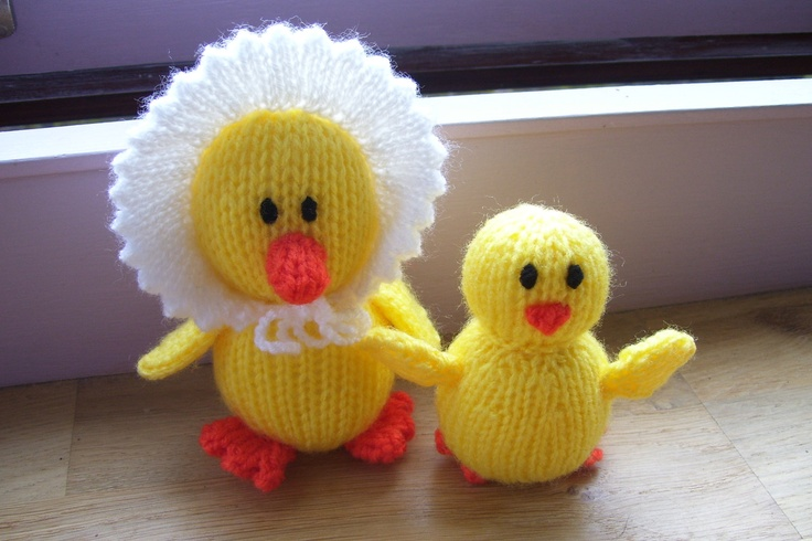 Knitting Easter Chicks : Best images about ducks on pinterest free pattern