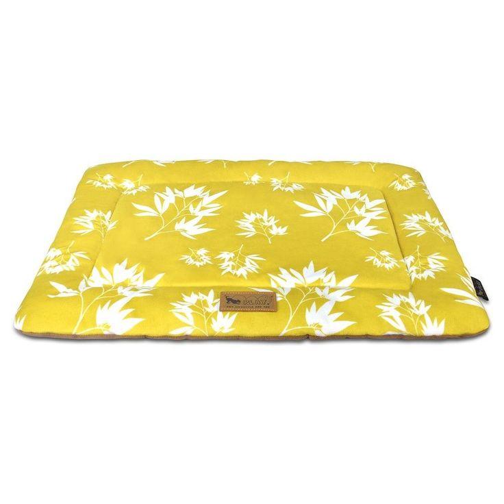 "P.L.A.Y. Designer Chill Pad Pet Blanket -Bamboo Mustard (36""X23"") (L), Bamboo Mustard"