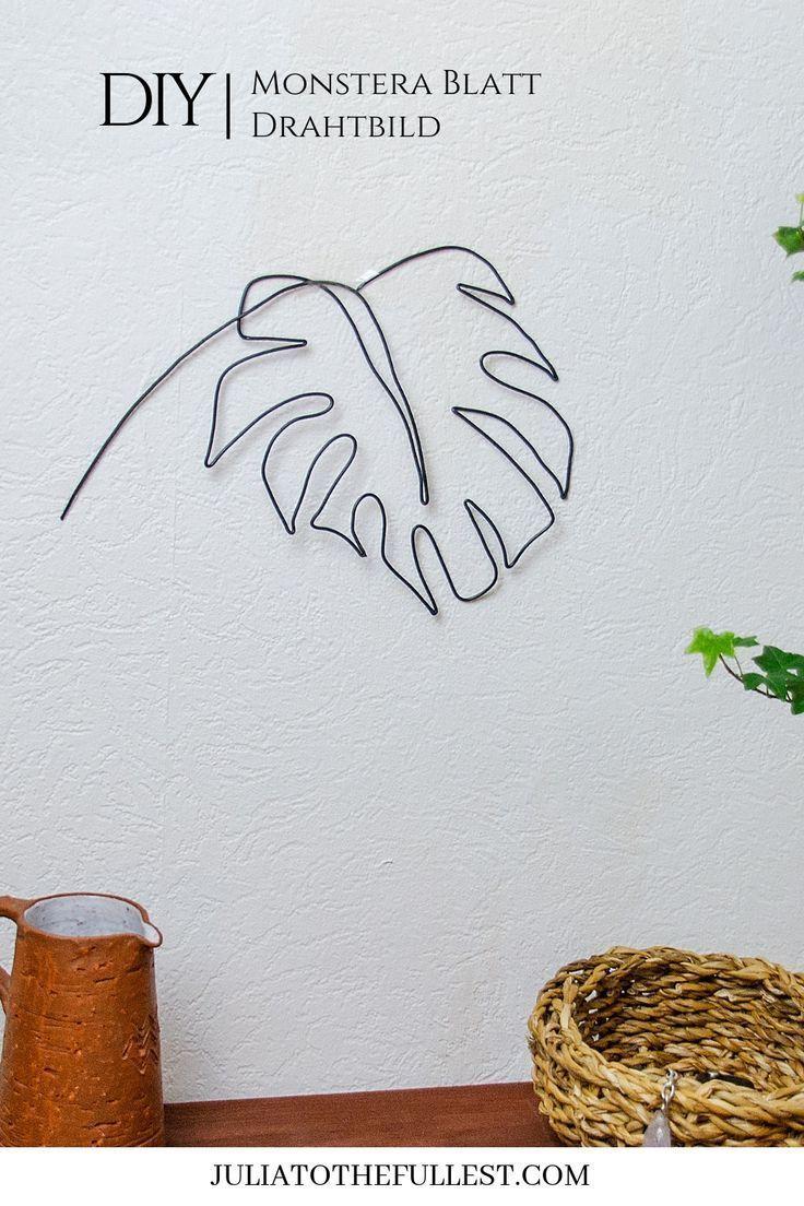 Diy Drahtbild Monstera Blatt Selbst Biegen Draht Handwerk Selbstgemachte Wandkunst Und Schmuckhalter