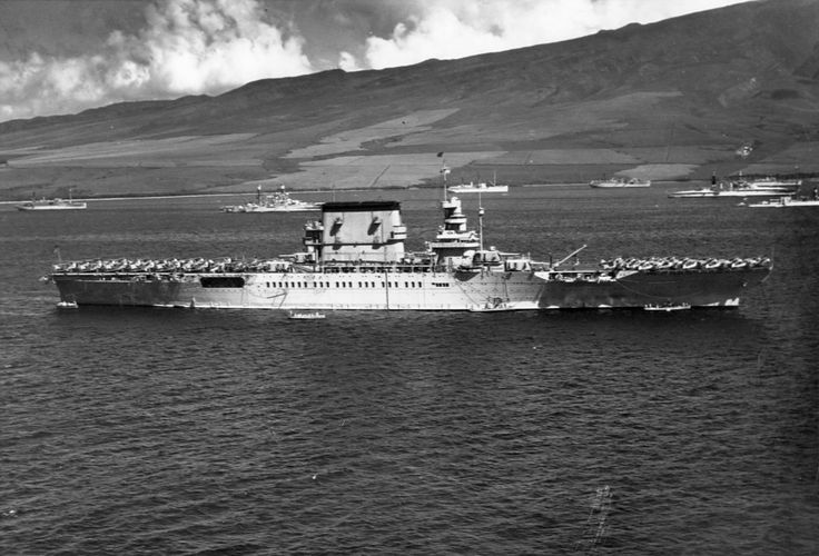 USS Lexington off Lahaina, Maui, US Territory of Hawaii, 16 February 1932