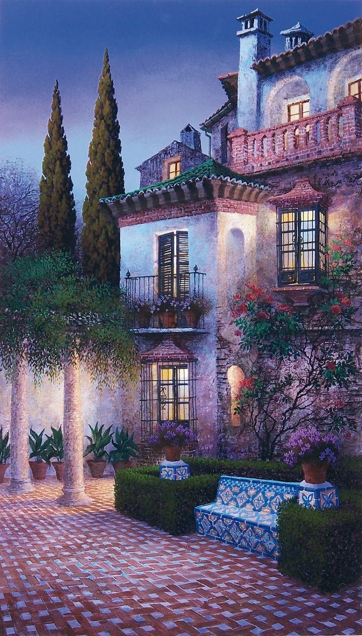 Luis Romero 1948 | Spanish Spray Paint Landscape painter |