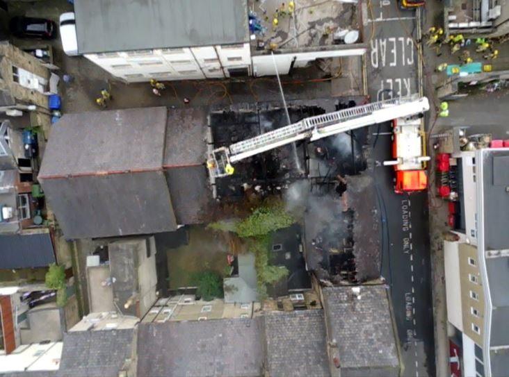NEW PICTURES: Lancaster City Centre Print Shop Blaze - The Bay