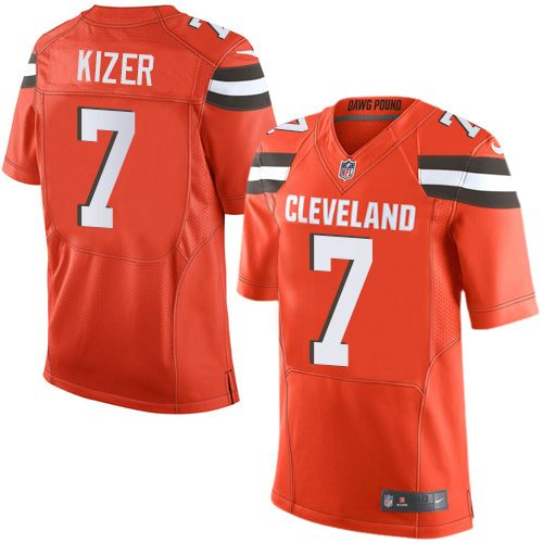 Men's Nike Cleveland Browns #7 DeShone Kizer Limited Orange Alternate NFL Jersey