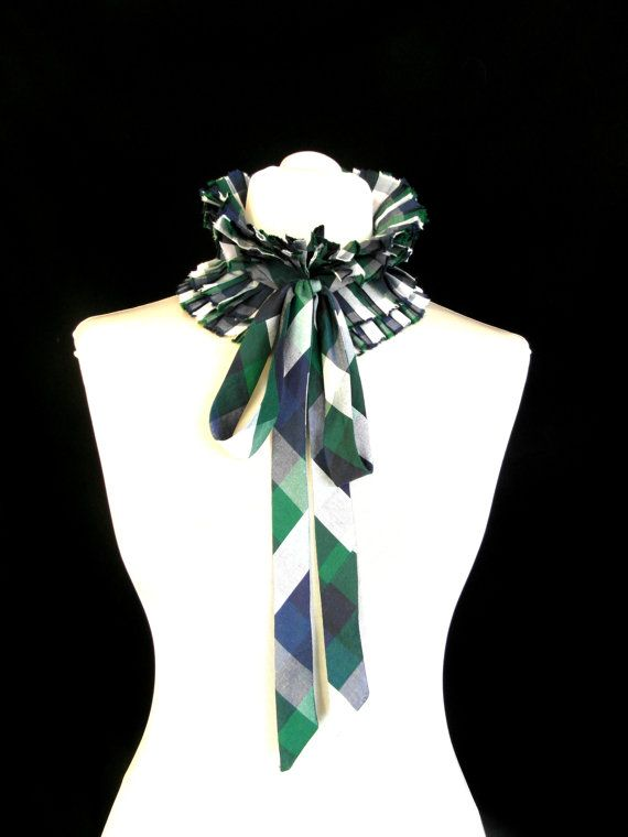 Multicolour squares collar// ruffle collar// by dimarena on Etsy