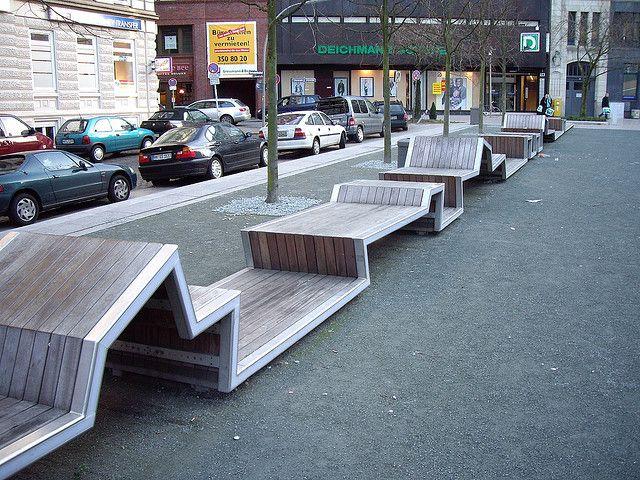 zig-zab benches
