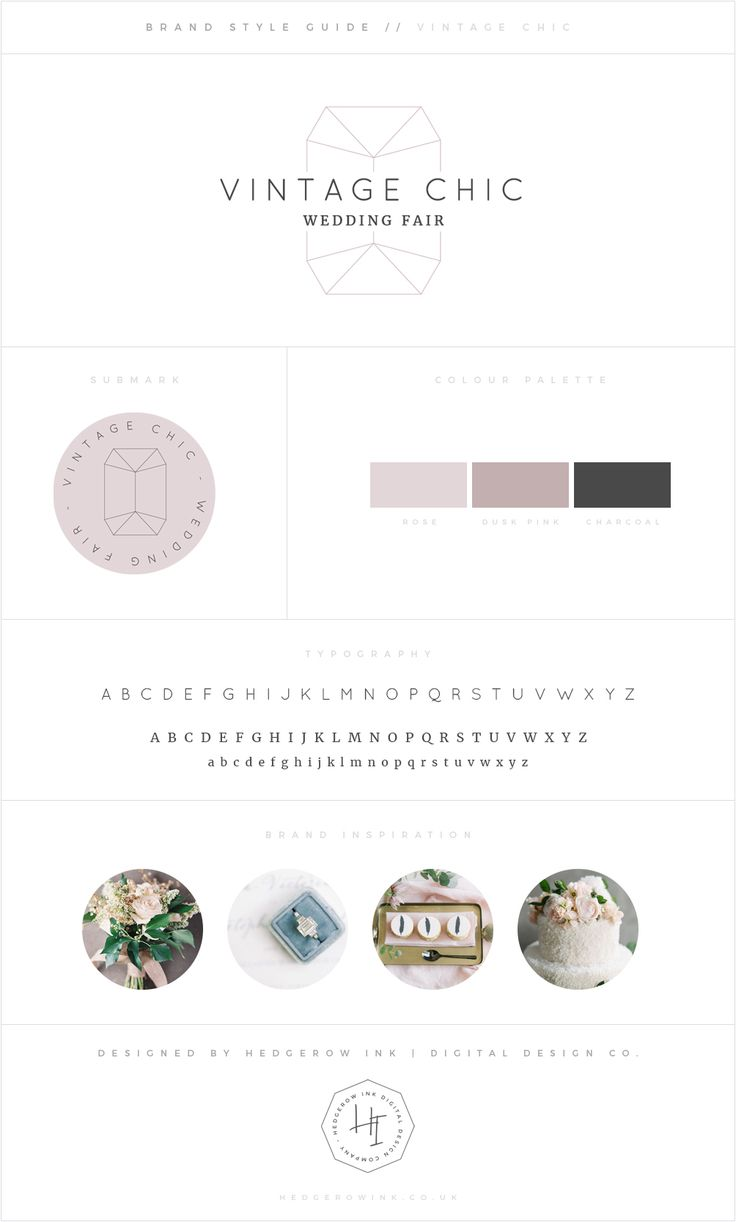 A vintage gem inspired scheme for a wedding fairs organiser. This branding uses crisp vector outlines and traditional serifed fonts to give a vintage feel with a modern twist. Blush and dusty pinks give a feminine feel.