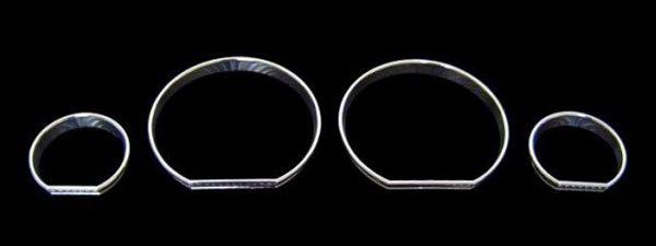 Kromade mätarringar - BMW E46