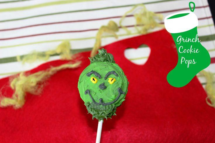 Fun and festive Grinch Cookie Pops recipe