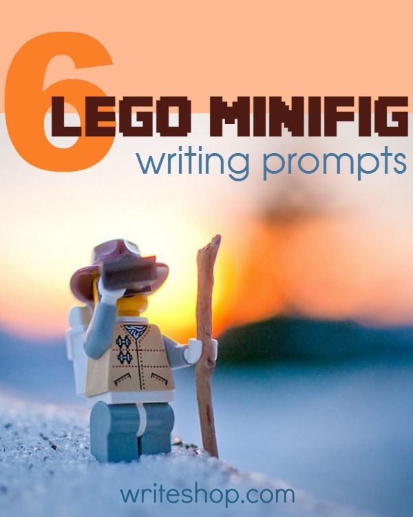 Invite your brick lovers to create an adventure story based on fun Lego minifig photo writing prompts. Exciting settings include a hockey game, sunrise expedition, tropical paradise, and ancient ruins.