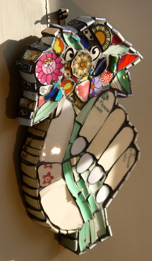 Hybrid in devon - Hand with posy 210x120mm £175 SOLD    Cleo Mussi