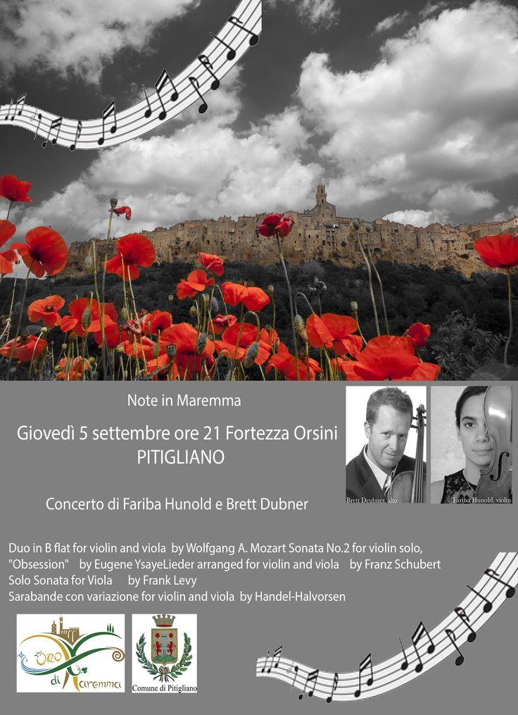 concerto organizzato da oro di maremma #noteinmaremma #maremma