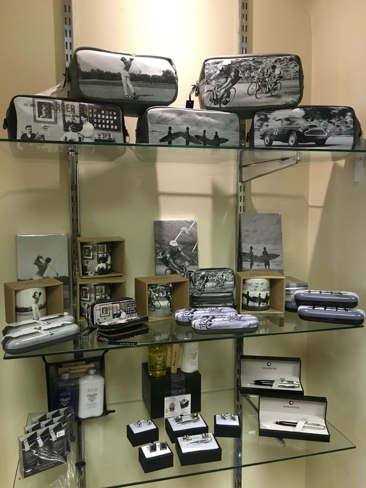 Men's gifting section in the new nest:)