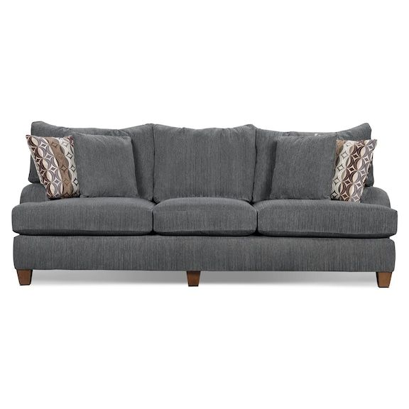Living Room Furniture   Putty Chenille Queen Size Sofa Bed  Grey