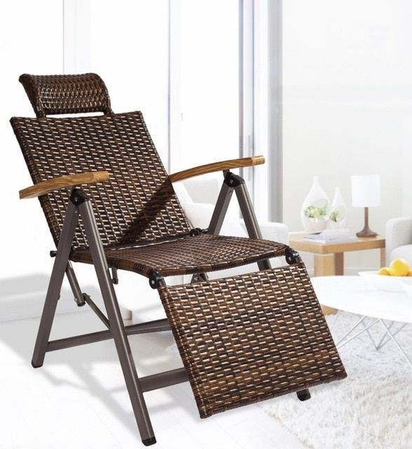 Outdoor Indoor Rattan Rocking Chair With Cushion Zero Folding Lounge Chair Vintage Recliners For Rattan Rocking Chair Folding Lounge Chair Vintage Lounge Chair