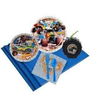 PartyBell.com - Monster Jam 3D 16 pc Guest Pack Plus Molded Cups