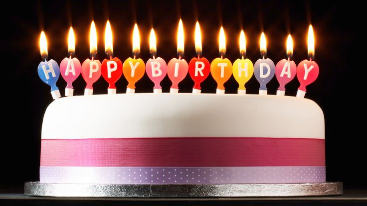 Happy Birthday Wishes Facebook   Happy birthday candle lights and cake