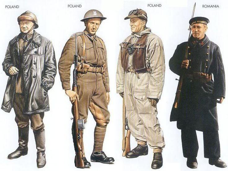 World War II Uniforms - Poland – 1939 Sep., Poland, Tank Crewman, Armoured Corps Poland – 1941 Nov., Southern Russia, Sergeant, Polish Army in Russia Poland – 1944 Oct., Italy, Private, II Polish Corps Romania – 1941 June, Black Sea, Rating, Danube Flotilla