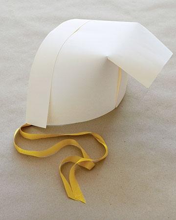 Paper Pilgrim Bonnet; Martha Stewart