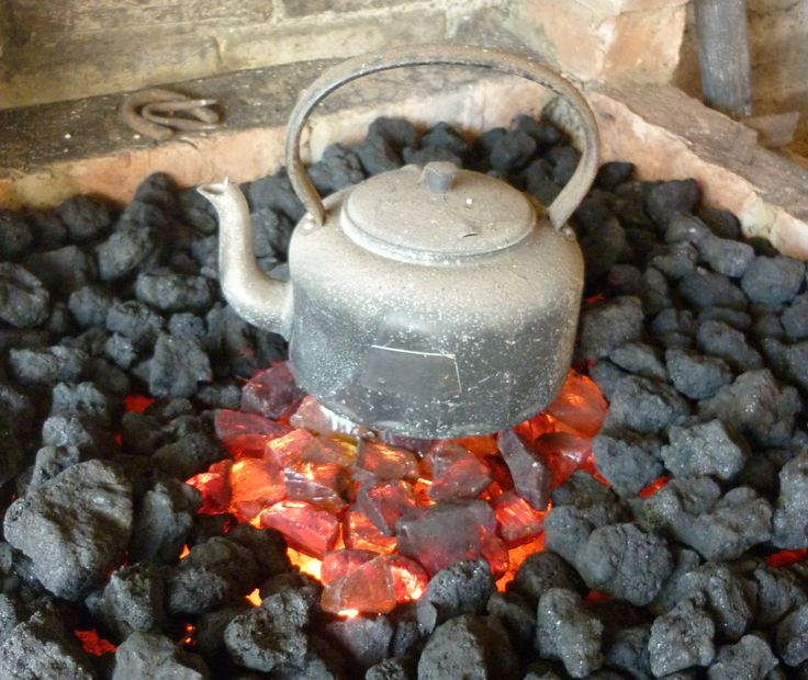Kettle's on at the replica forge in Whittlesey Museum