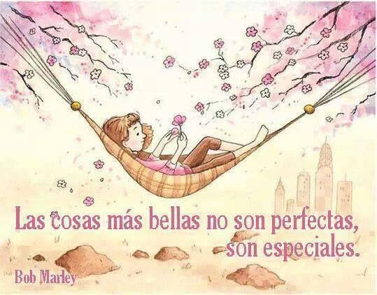Las cosas más bellas no son perfectas, son especiales.