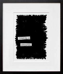 creativity-is-subtraction