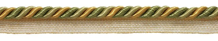 """10 Yard Value Pack of Medium Olive Gold Baroque Collection 5/16"""" Cord with Lip Style# 0516BL Color: GOLDEN OLIVE - 1755 (30 Ft / 9 Meters)"""