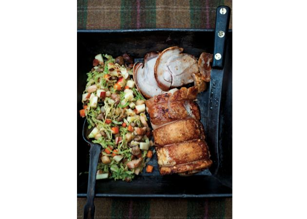 Add a little Michelin-star style to your repertoire in the new year with these two delicious recipes by top chef Tom Kitchin. Choose his Roasted Loin of Pork with Savoy Cabbage, Apple and Chestnuts dish or his equally tempting Smoked Salmon and Spinach Lasagne recipe: Tom Kitchin's Roasted Loin of Pork with Savoy Cabbage, Apple and Chestnuts 'It's the...
