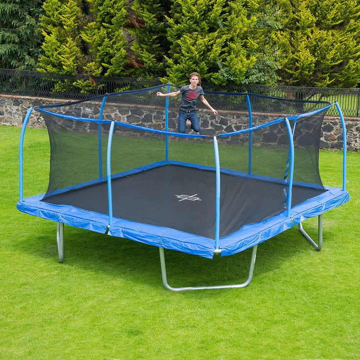 15 Square Trampoline And Steelflex Safety Enclosure New