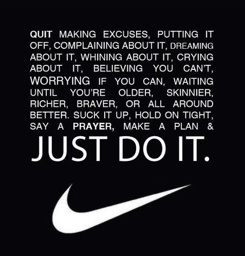 "Im not sure if this counts as a ""quote"" because its from the whole Nike group but it's still pretty boss."