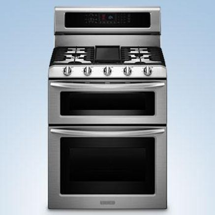 KitchenAid® 30 Dual Fuel Double Oven Range - Stainless Steel