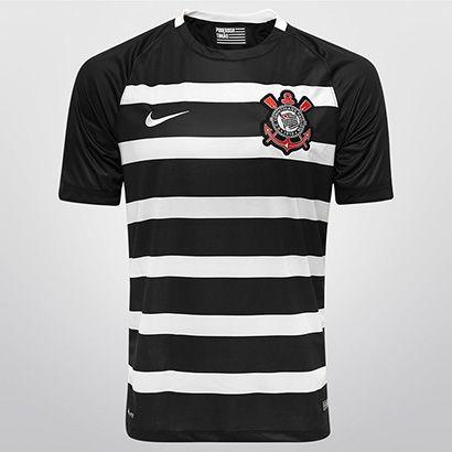 A Camisa Nike Corinthians II 2015 s/nº é perfeita para exibir as cores do Alvinegro e celebrar as conquistas do Timão. Mostre a força e a grandeza dessa torcida nas arquibancadas! | Netshoes