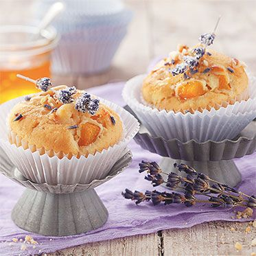 Lavendel-Aprikosen-Muffins