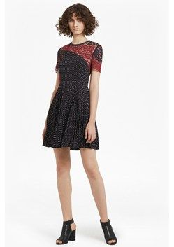 Phoebe Crepe Lace Skater Dress  | New Arrivals | French Connection Canada