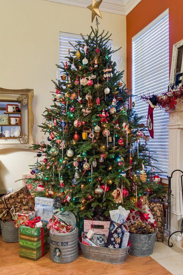 Oh Christmas Tree! | Galvanized bucket display | Home spun Texas Christmas ideas photo by @Lance Selgo