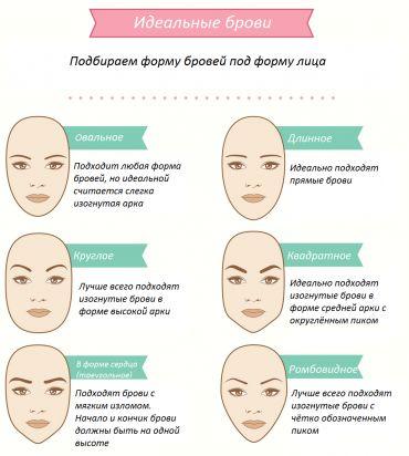 Подбираем форму бровей под <em>легкое</em> форму лица #брови #лицо
