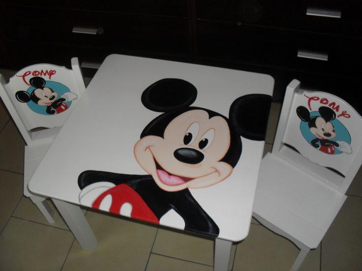 mesa para niños pintadas a mano