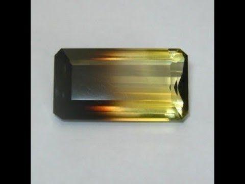 Permata Natural Bi Color Quartz 35.42 carat Rectangular