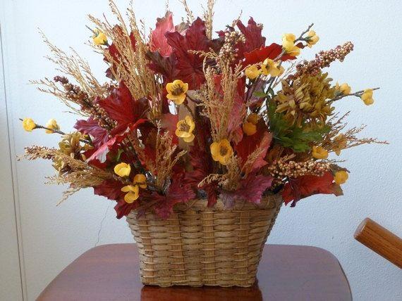 Fall flower basket ideas : Best images about silks arrangement ideas on