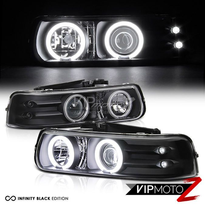 #2000-#2006 #Chevy #Silverado #Tahoe #Suburban #CCFL #Halo #LED #Projector #Black #Headlight #VIPMOTOZ