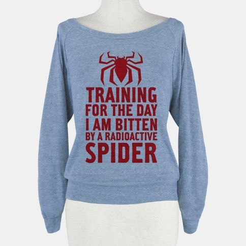 Training For The Day | HUMAN | T-Shirts, Tanks, Sweatshirts and Hoodies Spiderman!