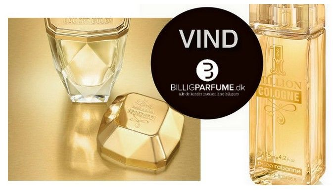 Vind på facebook Lady Million Eau my Gold og 1 Million Cologne #gaw #giveaway #vind #billigparfumedk #pacorabanne