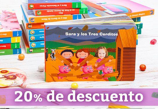 Descuento del 20% en cuentos personalizados para niños